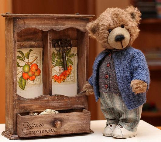 Мишки Тедди ручной работы. Ярмарка Мастеров - ручная работа. Купить Мишка Федя - авторский коллекционный медведь тедди ручной работы. Handmade.
