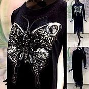 """Одежда ручной работы. Ярмарка Мастеров - ручная работа Вышивка """"Роскошная Бабочка"""" из пайеток, бисера, кружева, страз Swarovs. Handmade."""