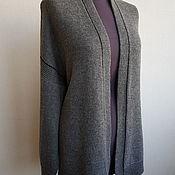 Одежда handmade. Livemaster - original item Grey cardigan with black stripe. Handmade.
