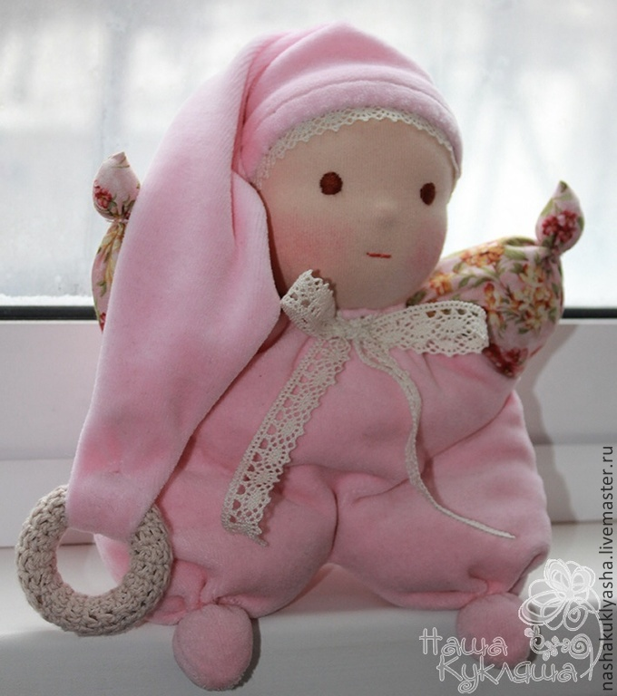 Вальдорфская кукла Малышка Неженка, Игрушки, Москва, Фото №1