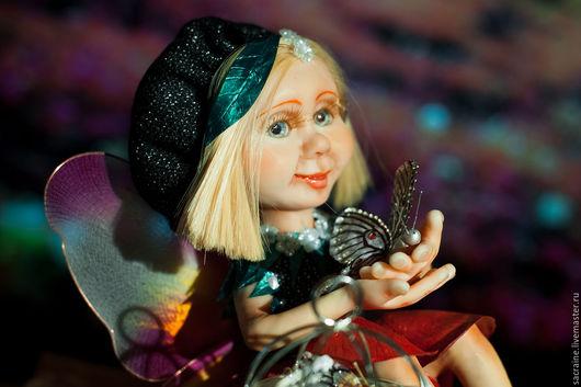 Коллекционные куклы ручной работы. Ярмарка Мастеров - ручная работа. Купить Фея бабочек Вивиана. Handmade. Комбинированный, коллекционная кукла