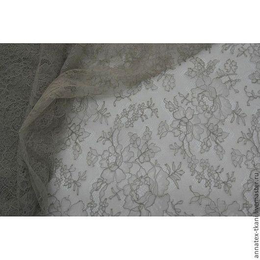 Гипюр Шантильи, цвет taupe (серо-коричневый), № 3760