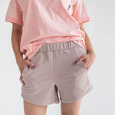 Одежда ручной работы. Ярмарка Мастеров - ручная работа Шорты SHORT в пыльно-розовом цвете. Handmade.