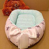 Для дома и интерьера ручной работы. Ярмарка Мастеров - ручная работа Гнездышко-кокон для новорожденного. Handmade.