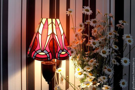 Lamps handmade. Livemaster - handmade. Buy Stained glass lamp. Phoenix.Stained glass, unusual gift, lamps, sconce
