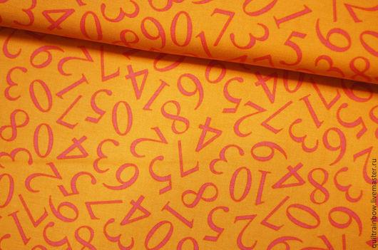"""Шитье ручной работы. Ярмарка Мастеров - ручная работа. Купить Хлопок """"Цифры"""". Handmade. Хлопок, корейские ткани, ткань для пэчворка"""