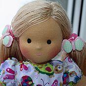 Куклы и игрушки ручной работы. Ярмарка Мастеров - ручная работа Вальдорфская кукла Зайка, 32 см, для детей от 3 лет. Handmade.