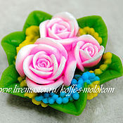 Материалы для творчества handmade. Livemaster - original item Silicone molds for soap Bouquet of three roses. Handmade.