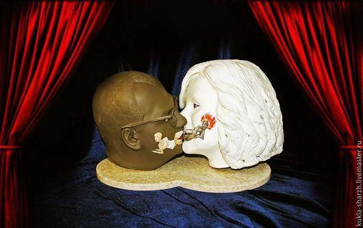 Подарки для влюбленных ручной работы. Ярмарка Мастеров - ручная работа. Купить двойной бюст по фото на свадьбу«Поцелуй вечности». Handmade. Статуэтка