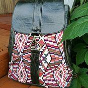 Сумки и аксессуары handmade. Livemaster - original item Women`s leather ethnic backpack. Handmade.