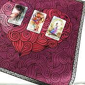 Фен-шуй и эзотерика handmade. Livemaster - original item Velvet Tablecloth 49h49 cm.