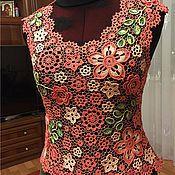 Одежда ручной работы. Ярмарка Мастеров - ручная работа Топ кораловый. Handmade.
