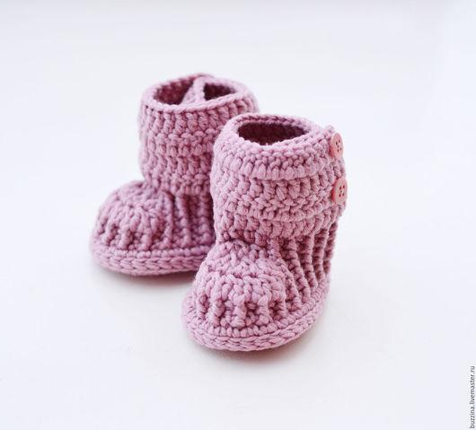 Для новорожденных, ручной работы. Ярмарка Мастеров - ручная работа. Купить Пинетки сапожки из шерсти,  пинетки Угги для новорожденной. Handmade.