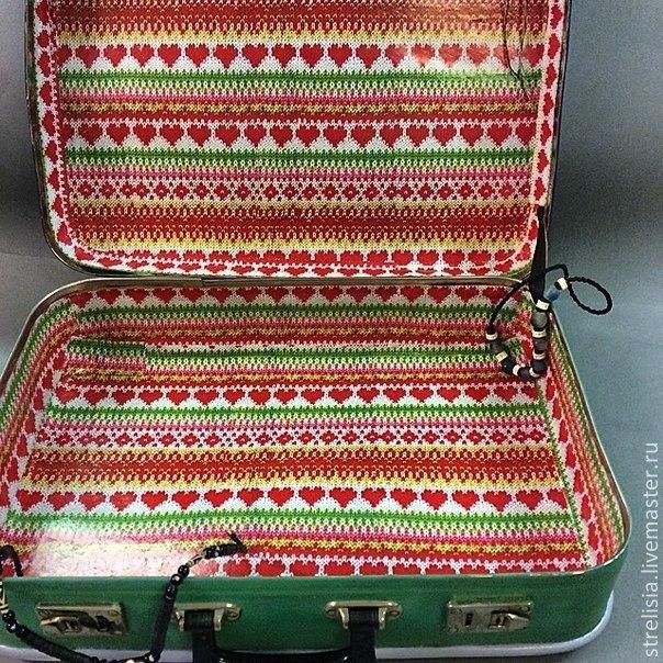 """""""В стиле этно"""" Декор  винтажного чемодана"""