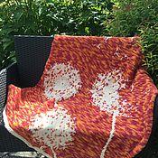 Пледы ручной работы. Ярмарка Мастеров - ручная работа Рыжие одуванчики. Handmade.