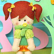 """Куклы и игрушки ручной работы. Ярмарка Мастеров - ручная работа Игровая кукла из фетра """"Парижанка"""". Handmade."""