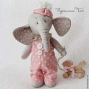 Куклы и игрушки ручной работы. Ярмарка Мастеров - ручная работа Слоненок - мягкая игрушка тильда. Handmade.
