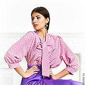 Одежда ручной работы. Ярмарка Мастеров - ручная работа блуза в горошек. Handmade.
