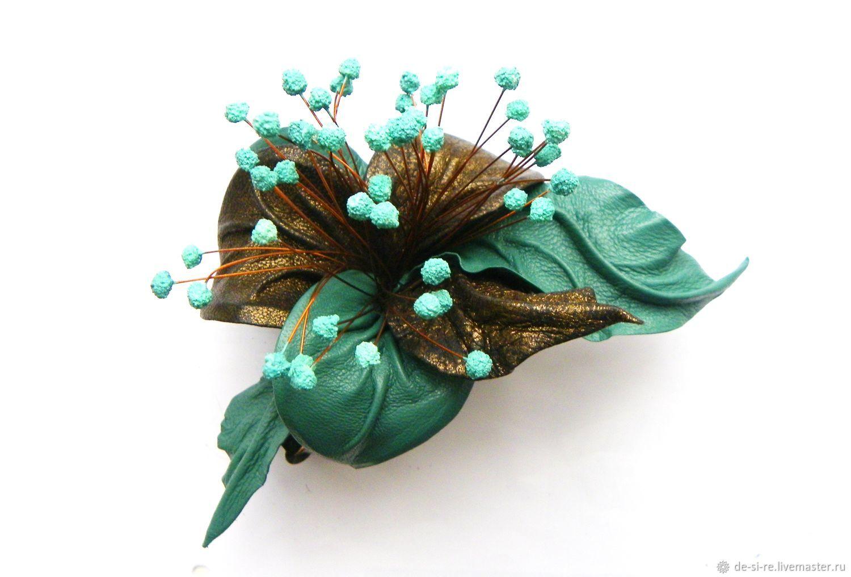 Бронзовый цветок для волос