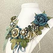 Украшения handmade. Livemaster - original item Valley Blue Sage. Necklace, brooch. Handmade.