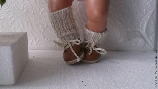 Одежда для кукол ручной работы. Ярмарка Мастеров - ручная работа. Купить Короткие ботиночки с гетрами БОХО. Handmade. Рыжий