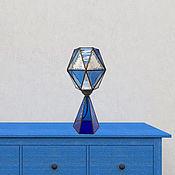 Для дома и интерьера handmade. Livemaster - original item Geometric table lamp light ultramarine. Handmade.