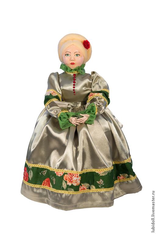 Коллекционные куклы ручной работы. Ярмарка Мастеров - ручная работа. Купить Купчиха на самовар Ефросинья Семеновна. Handmade. Зеленый