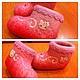 """Обувь ручной работы. Валенки """"Hello Kitty"""". Yuliya Sverlova. Ярмарка Мастеров. Валенки детские, шерсть 100%"""