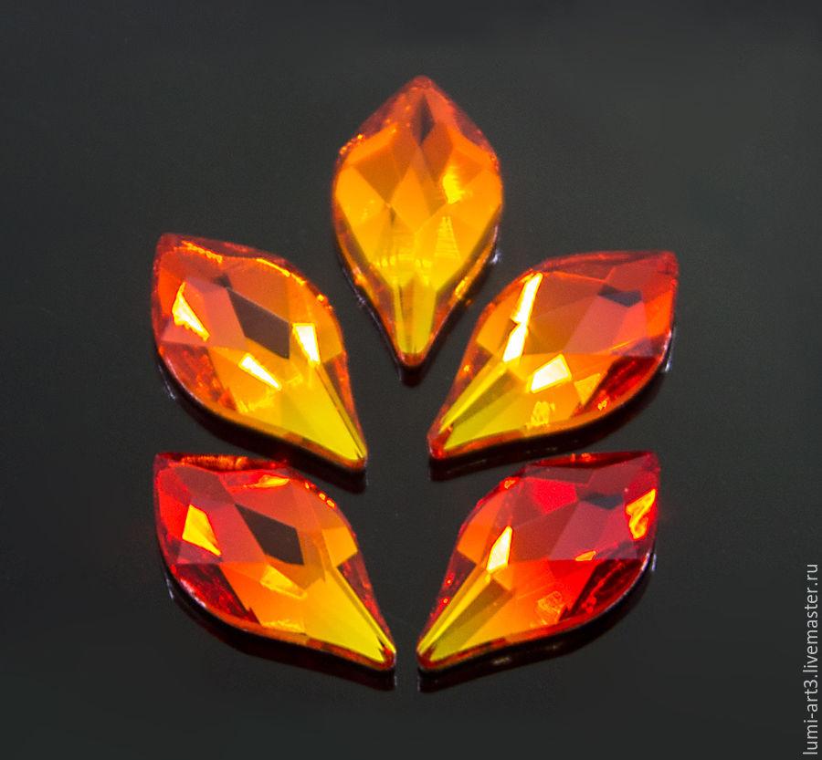 Для украшений ручной работы. Ярмарка Мастеров - ручная работа. Купить Flame Flat Back 7.5мм Fire Opal Клеевые стразы холодной фиксации 1 шт. Handmade.