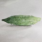 Картины и панно ручной работы. Ярмарка Мастеров - ручная работа Огурец и яблоко. Handmade.