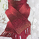 Шарфы и шарфики ручной работы. Ярмарка Мастеров - ручная работа. Купить вязаный  шарф ТЕРРАКОТ. Handmade. Шарф, терракот