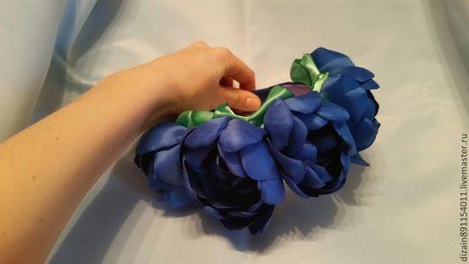 """Диадемы, обручи ручной работы. Ярмарка Мастеров - ручная работа. Купить Ободок """"Цветы"""". Handmade. Бусины, цветы ручной работы"""