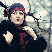 """Аксессуары handmade. Livemaster - original item Валяный комплект шляпка+горжетка """"Классика жанра"""". Handmade."""