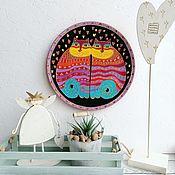 Посуда handmade. Livemaster - original item Plate wall Studs twin 27smruchnaya painting. Handmade.