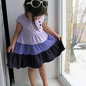 """Работы для детей, ручной работы. Ярмарка Мастеров - ручная работа """"Черничное"""". Многоярусное платье. Handmade."""