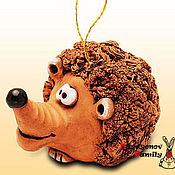 Сувениры и подарки handmade. Livemaster - original item hedgehog Sebastian, a ceramic bell. the hedgehog out of clay.. Handmade.