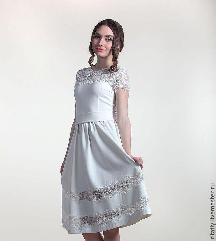 0614: Платье из джерси с кружевом, Платья, Москва, Фото №1