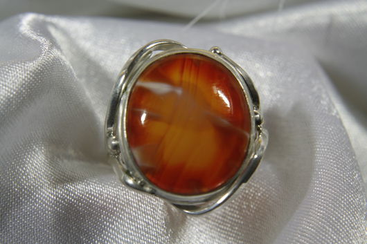 Кольца ручной работы. Ярмарка Мастеров - ручная работа. Купить Перстень из серебра с сердоликом. Handmade. Рыжий, кольцо серебряное