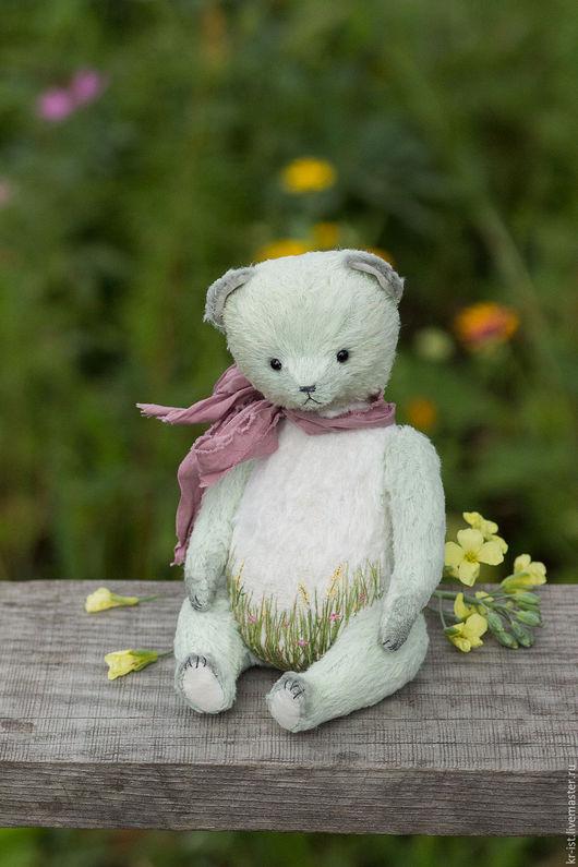 Мишки Тедди ручной работы. Ярмарка Мастеров - ручная работа. Купить Неженка. Handmade. Мятный, зелень, лето, авторская игрушка