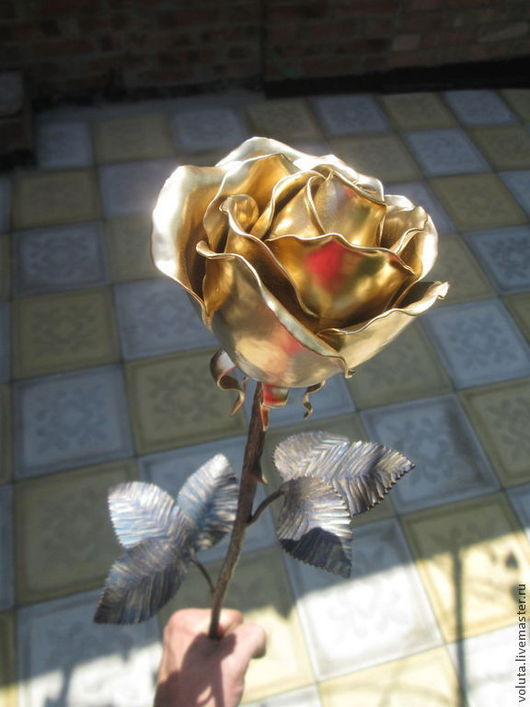 Цветы ручной работы. Ярмарка Мастеров - ручная работа. Купить Роза кованая. Handmade. Роза кованная, роза из металла