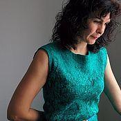 """Одежда ручной работы. Ярмарка Мастеров - ручная работа Валяное платье """"Малахит"""". Handmade."""