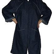 Одежда ручной работы. Ярмарка Мастеров - ручная работа Летний джинсовый плащ. Handmade.