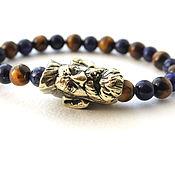 Украшения handmade. Livemaster - original item Bracelet of natural stone and bronze. Handmade.