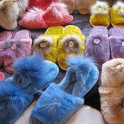 Обувь ручной работы handmade. Livemaster - original item Womens Slippers sheepskin (Mouton). Handmade.