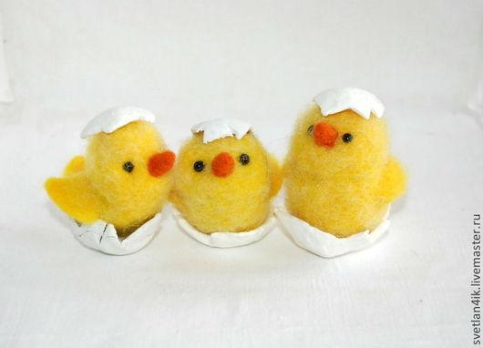 Игрушки животные, ручной работы. Ярмарка Мастеров - ручная работа. Купить Цыплята. Handmade. Желтый, пасхальный подарок