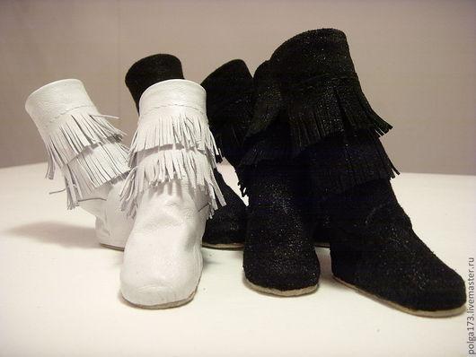 """Одежда для кукол ручной работы. Ярмарка Мастеров - ручная работа. Купить Сапожки """"Бахрамушки"""" для Тильд и текстильных кукол.. Handmade. Черный"""