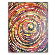Картины и панно handmade. Livemaster - original item The picture with the sun in abstract