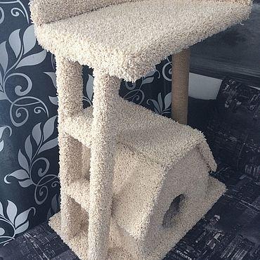 Товары для питомцев ручной работы. Ярмарка Мастеров - ручная работа Домик для кошек. Handmade.
