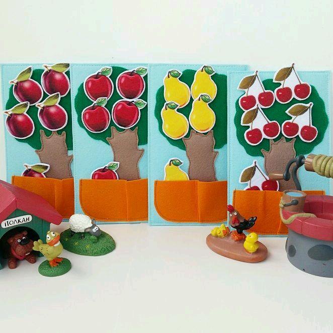 Набор деревьев с фруктами (на липучках), Игровые наборы, Долгопрудный,  Фото №1