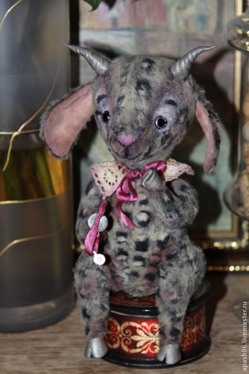 Мишки Тедди ручной работы. Ярмарка Мастеров - ручная работа. Купить Коза Глафира. Handmade. Серый, козочка, пластика фимо